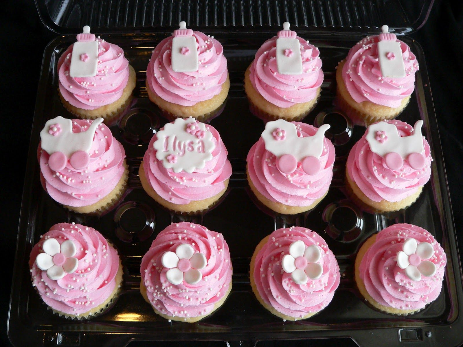 cupcakes for twin girls baby shower