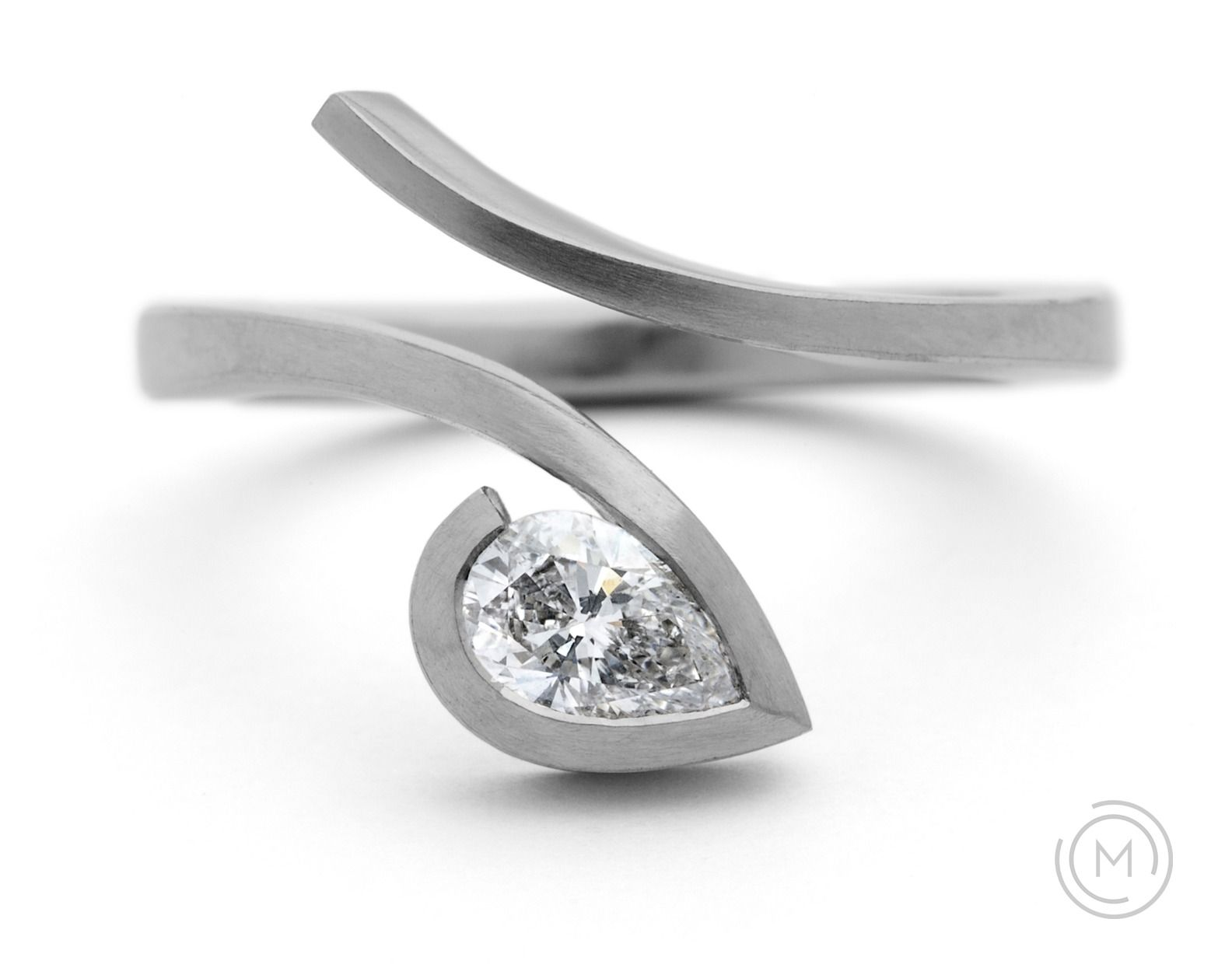 contemporary engagement rings twist - Contemporary Wedding Rings