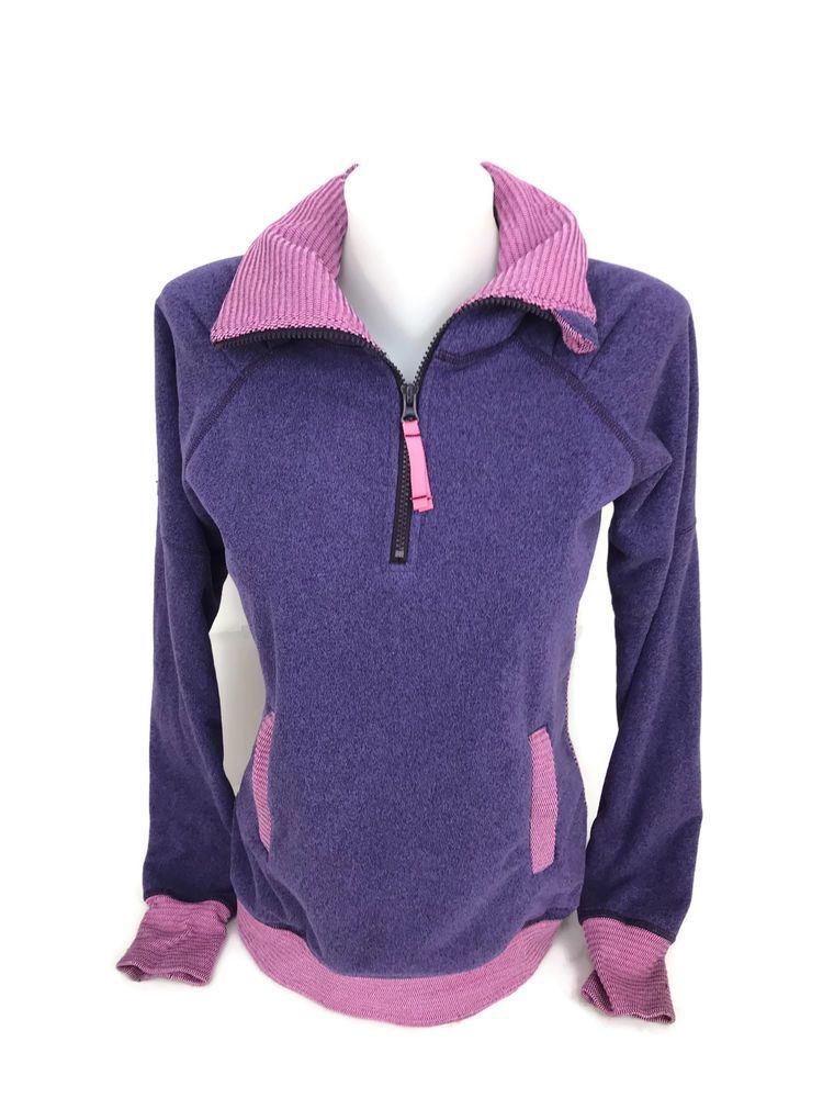 9e7fe219b9a700 Ivivva Girl s Lululemon Athletic Jacket Purple Quarter Zip Soft Fleece Size  10