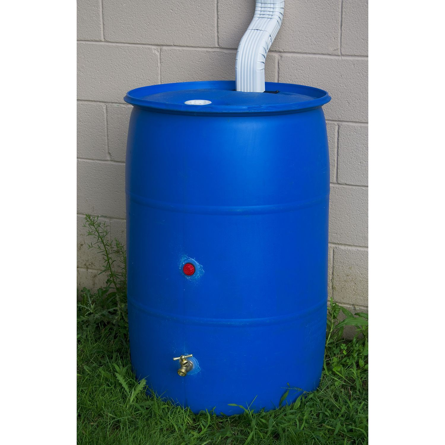 55 Gallon Big Blue Recycled Rain Barrel