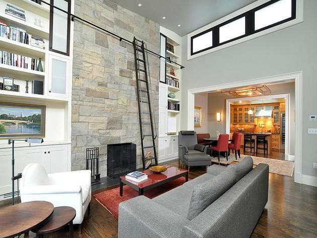 Living Room: Boston, Massachusetts Loft