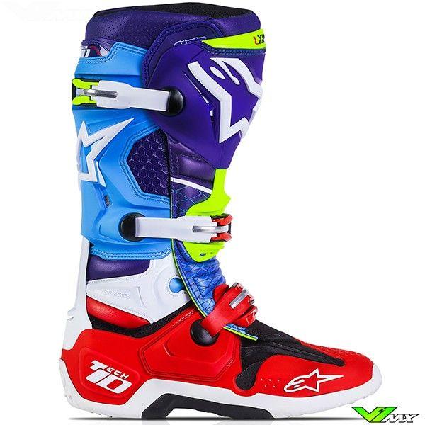 Alpinestars 2017 Tech 10 Mx Boots Red Bud Limited Edition Mx Boots Dirt Bike Boots Alpinestars