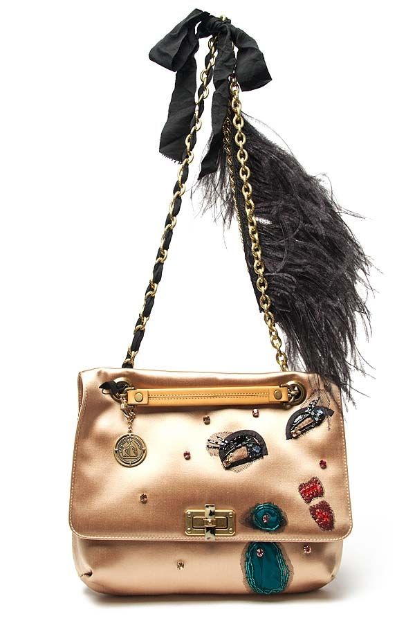 acc0bf30a9 Lanvin Sequin Happy Bag Satin shoulder bag with jeweled face ...