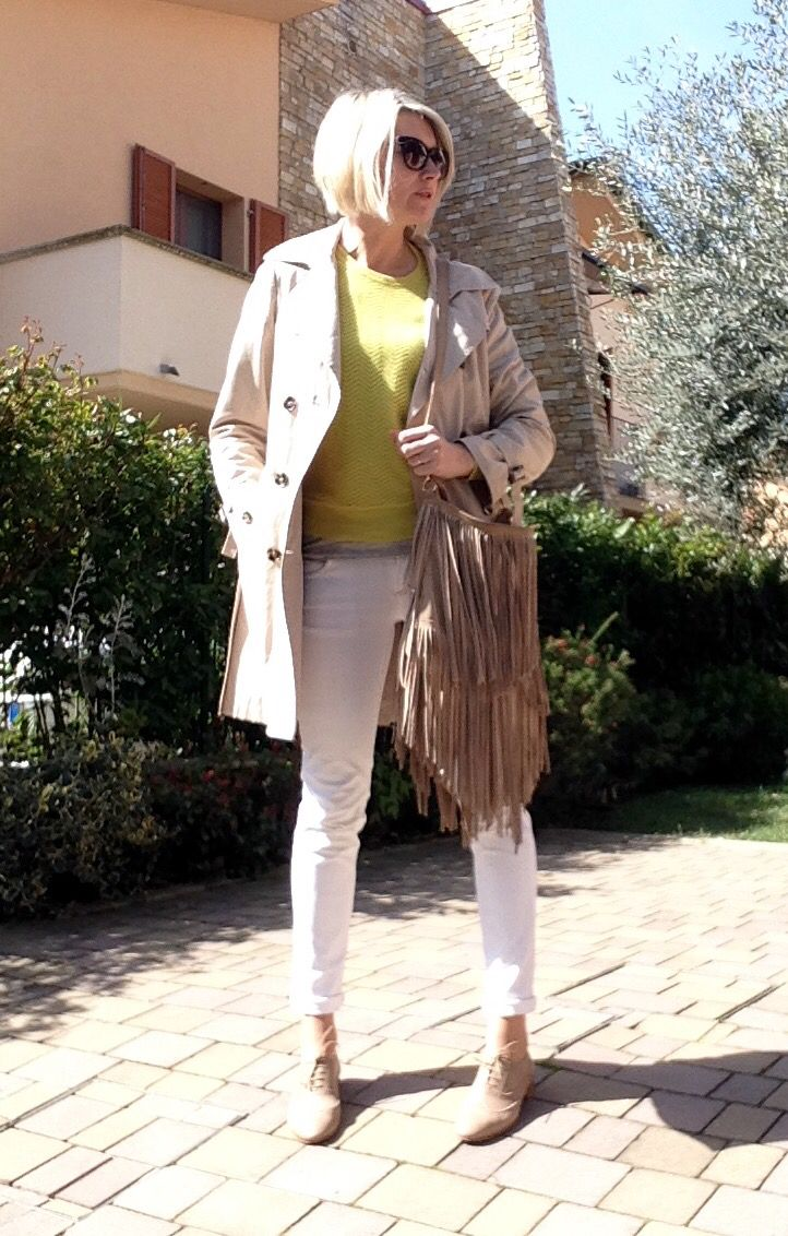 Beige and yellow