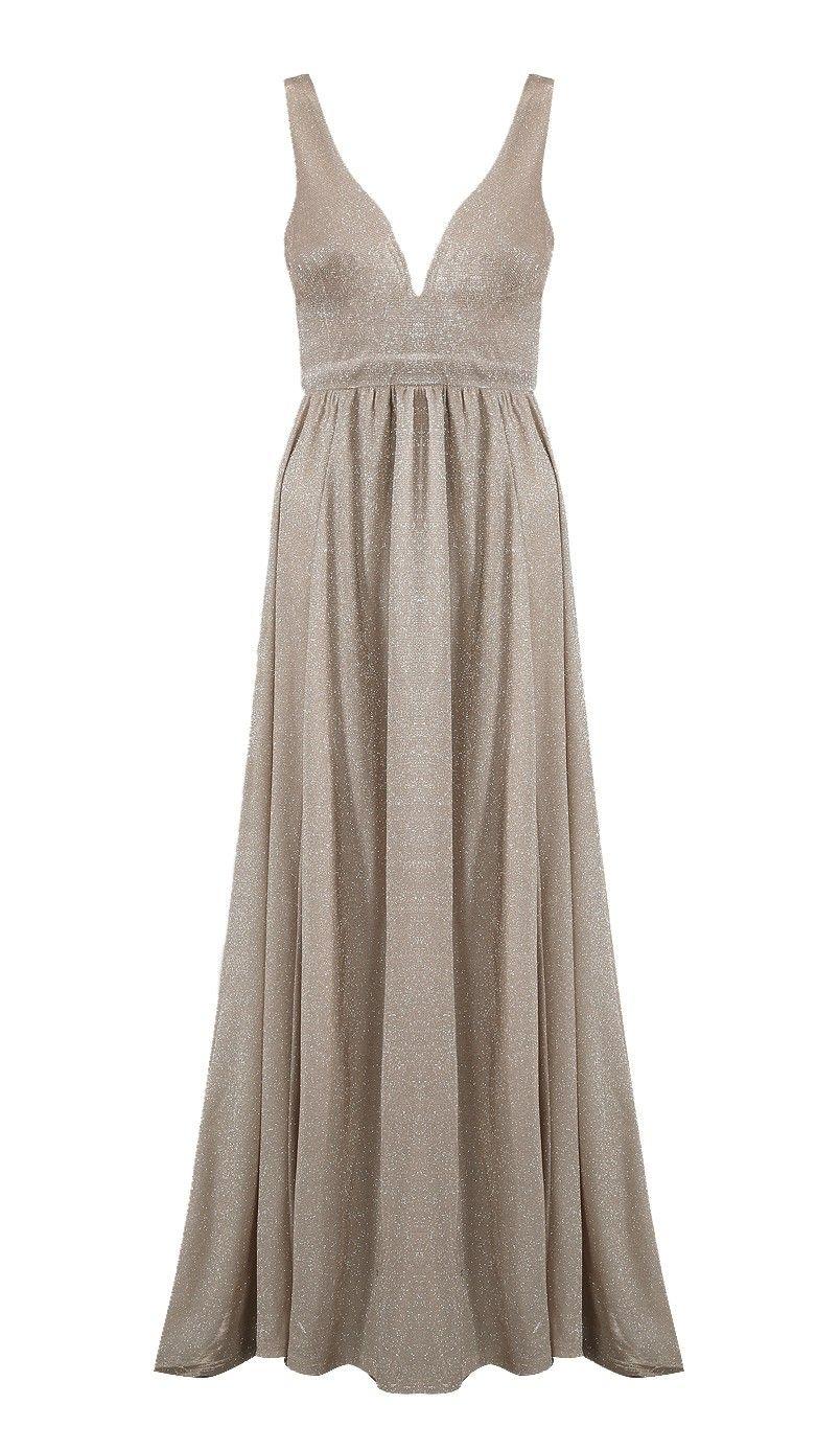 7bf267f9164f Lucy Wang beige kjole med slæb