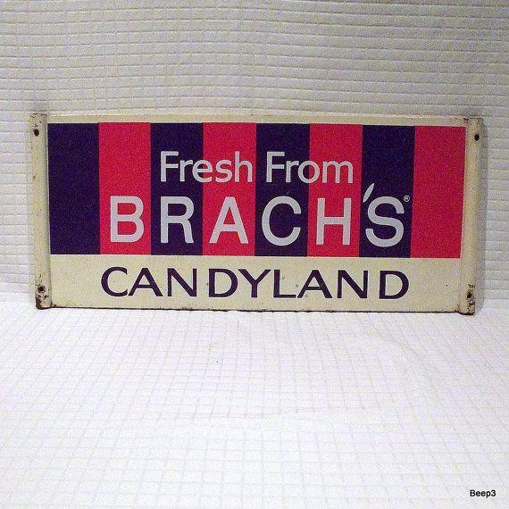 Vintage Brach S Candyland Metal Sign 58 00 Via Etsy
