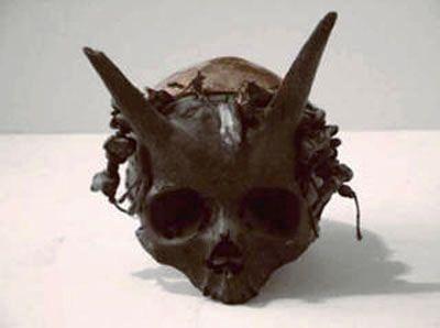 hornedhumanskulls