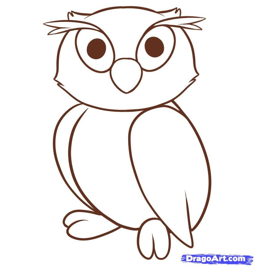 use the form below to delete this how to draw an owl for kids step 7 - Basic Drawings For Kids