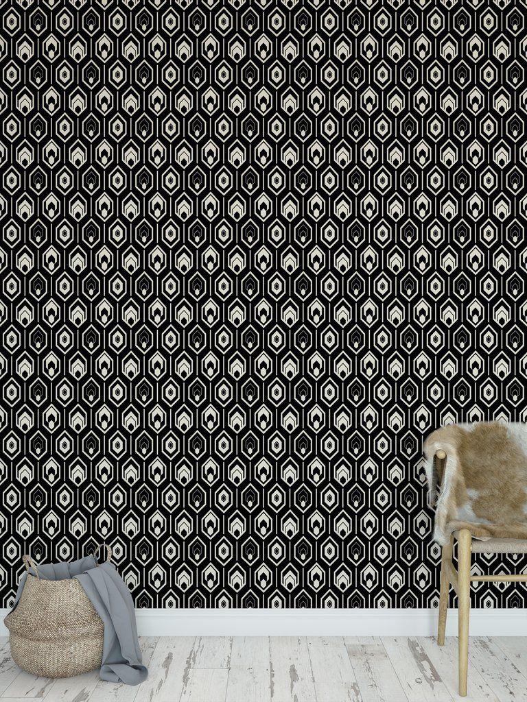 Modern Farmhouse Black Peel And Stick Wallpaper By Lemon Lovegood In 2020 Peel And Stick Wallpaper Modern Farmhouse Wallpaper