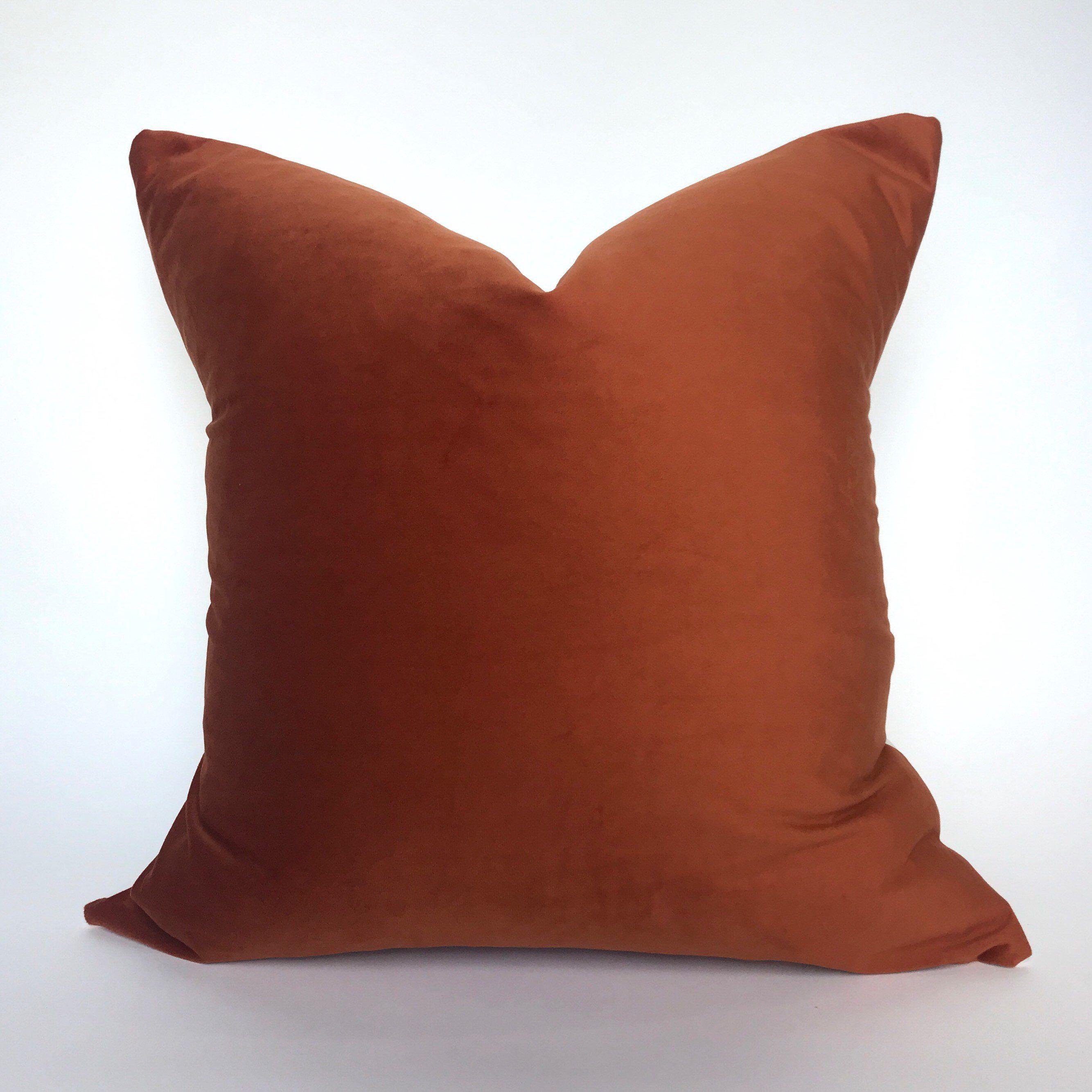 Velvet Pillow Cover Pumpkin Rust Orange With Images Rust