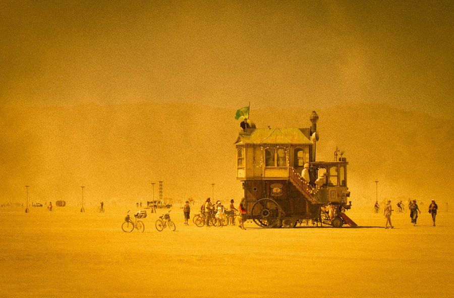 Burning Man A Terry Gilliamesuqe, steampunk, housecar