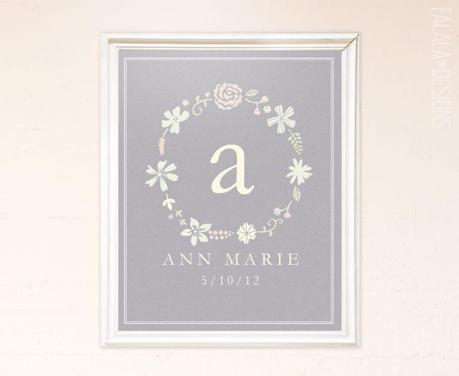 FREE! falala designs: Floral Wreath Printable
