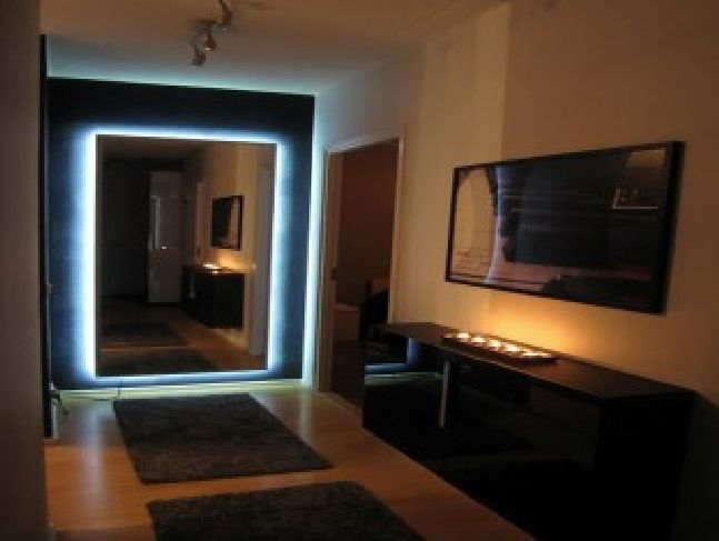 ikea full length floor mirror with led lighting bathrooms ikea mirror ikea hovet mirror. Black Bedroom Furniture Sets. Home Design Ideas