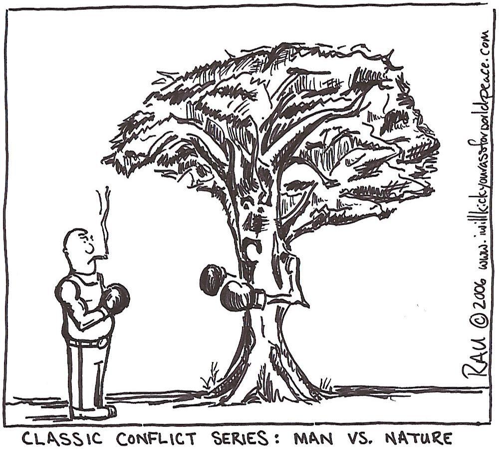 person vs nature example
