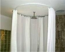 Curtain Tracks Com Round Shower Curtain Rod Shower Curtain