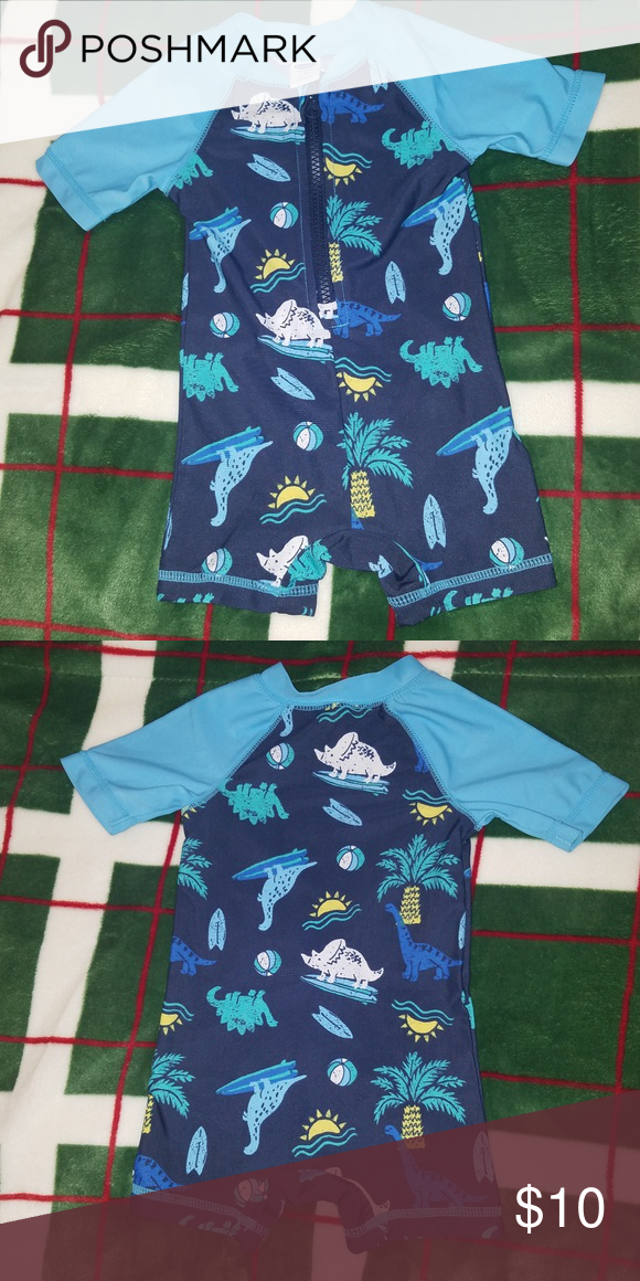 e899790fe63ee 3-6 Month Old Navy baby boy swimsuit Only worn once for about 2 hours.  Perfect condition. Size 3-6 Months. Zips halfway down in the front.