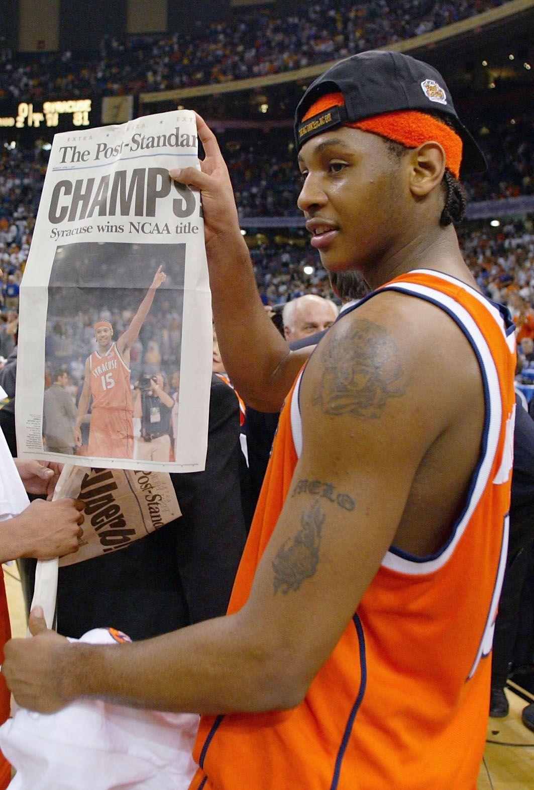 Melo winning the NCAA championship Syracuse! Syracuse