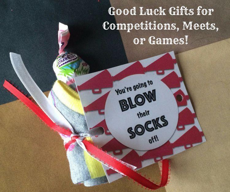 Good Luck Team Gift Idea Sports Mom Snack Duty Dance