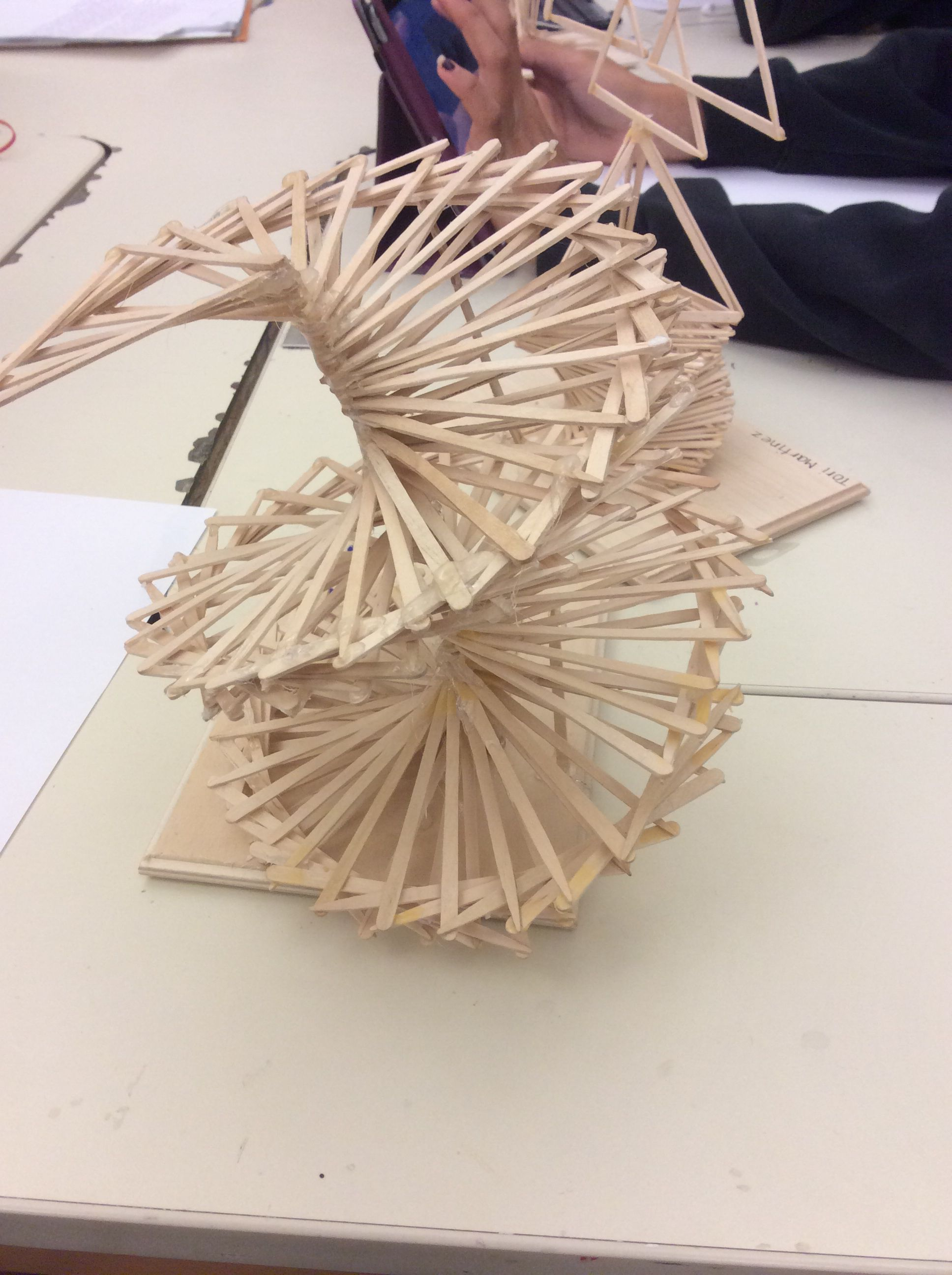 Modular sculpture glue wooden sticks we had to make a