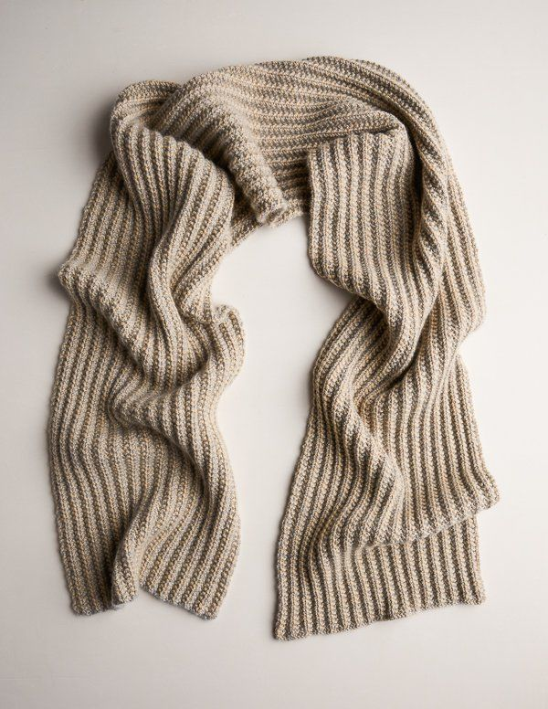Two Tone Mistake Rib Scarf Knitting Patterns Scarves And Stitch