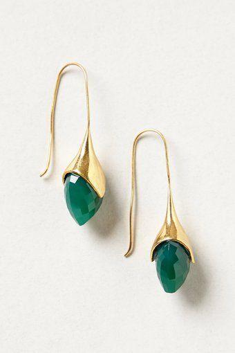 Crystallized Water Drop Earrings
