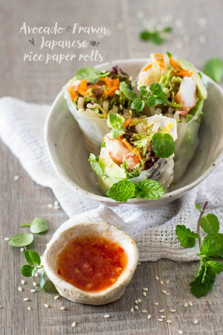 Japanese rice paper rolls japanese food and drink japanese cuisine forumfinder Images