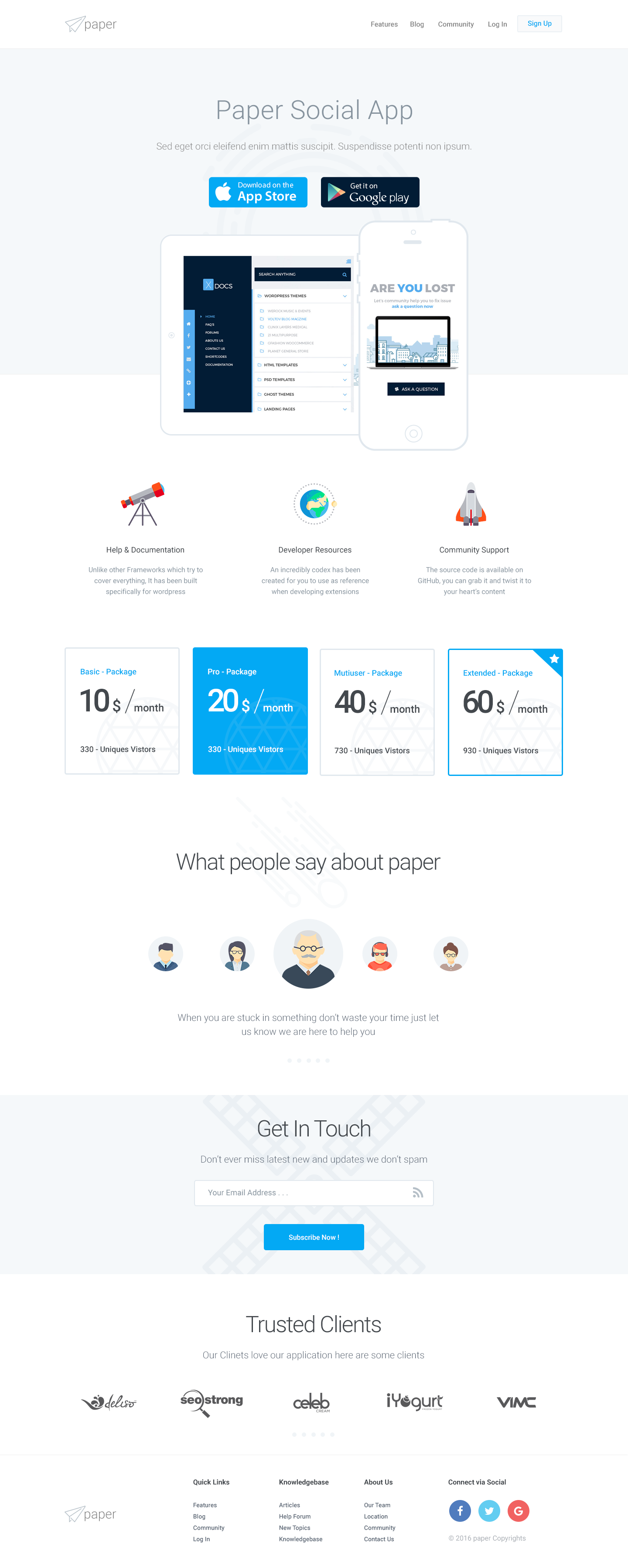Paper Product Knowledgebase Template Psd Templates Templates