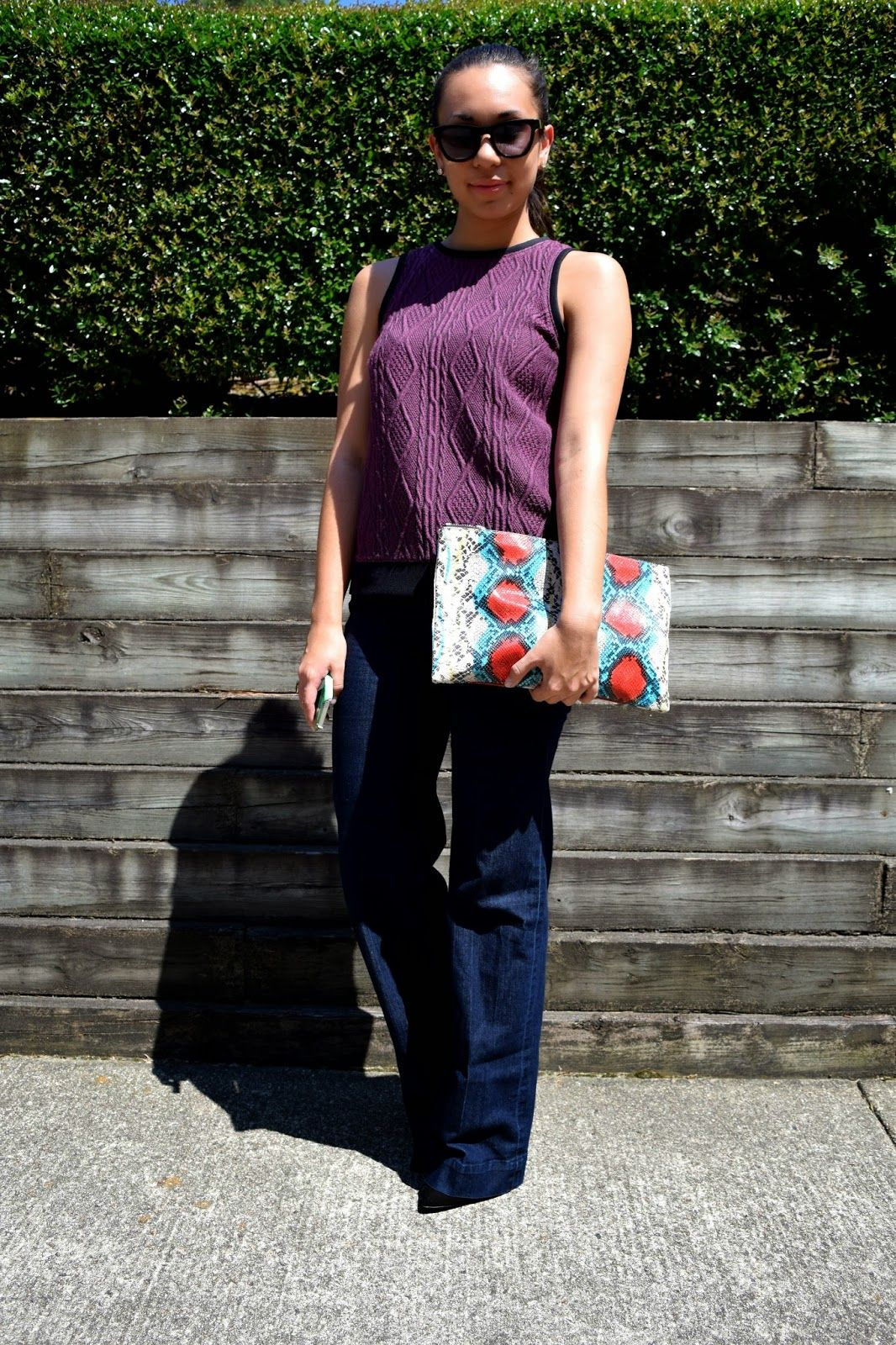 awesome purple Tibi top on www.melinchanel.com