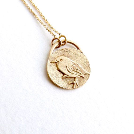 Hey i found this really awesome etsy listing at httpsetsy gold bird necklace bird pendant animal charm by artemer mozeypictures Gallery