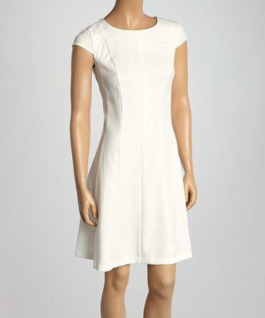 Vanilla Ice Cap-Sleeve Dress by Jemma Apparel #zulily #zulilyfinds