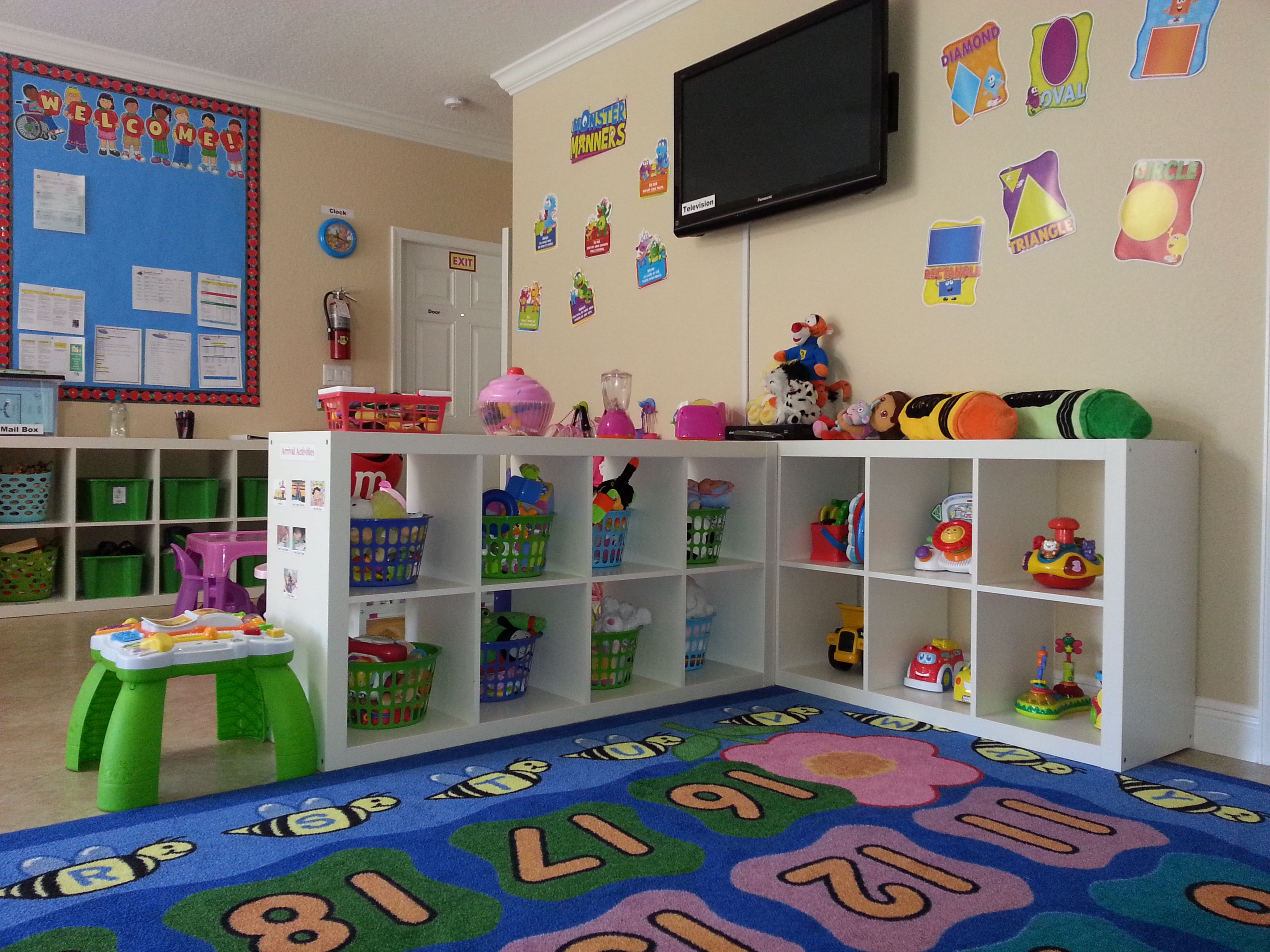 Home Daycare Ideas The Kids Place Preschool Palm Springs Fl Our Toy Are Always Clean And Colorful Daycare Decor Daycare Design Daycare Setup