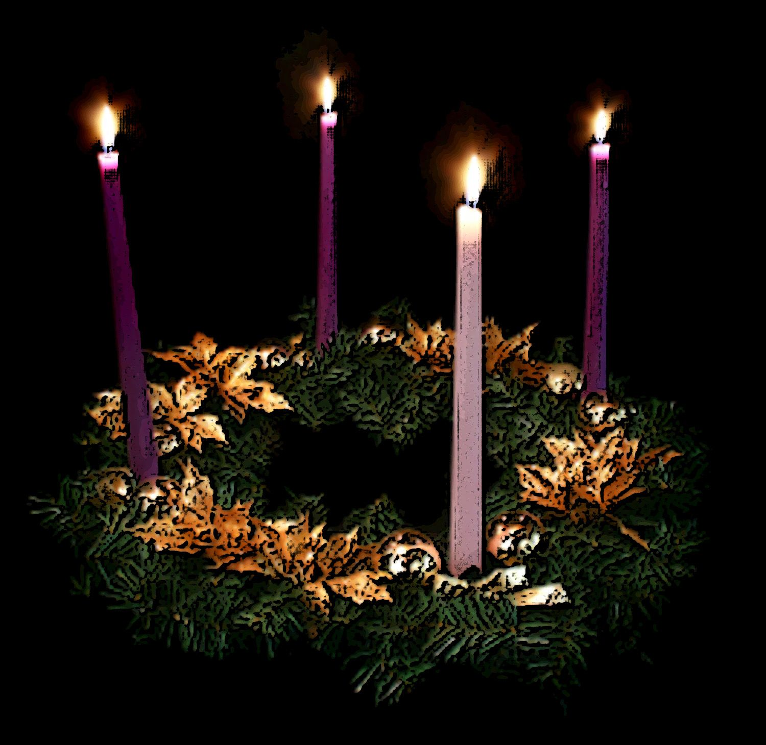 The Advent Wreath Provided Some Mood Lighting For What
