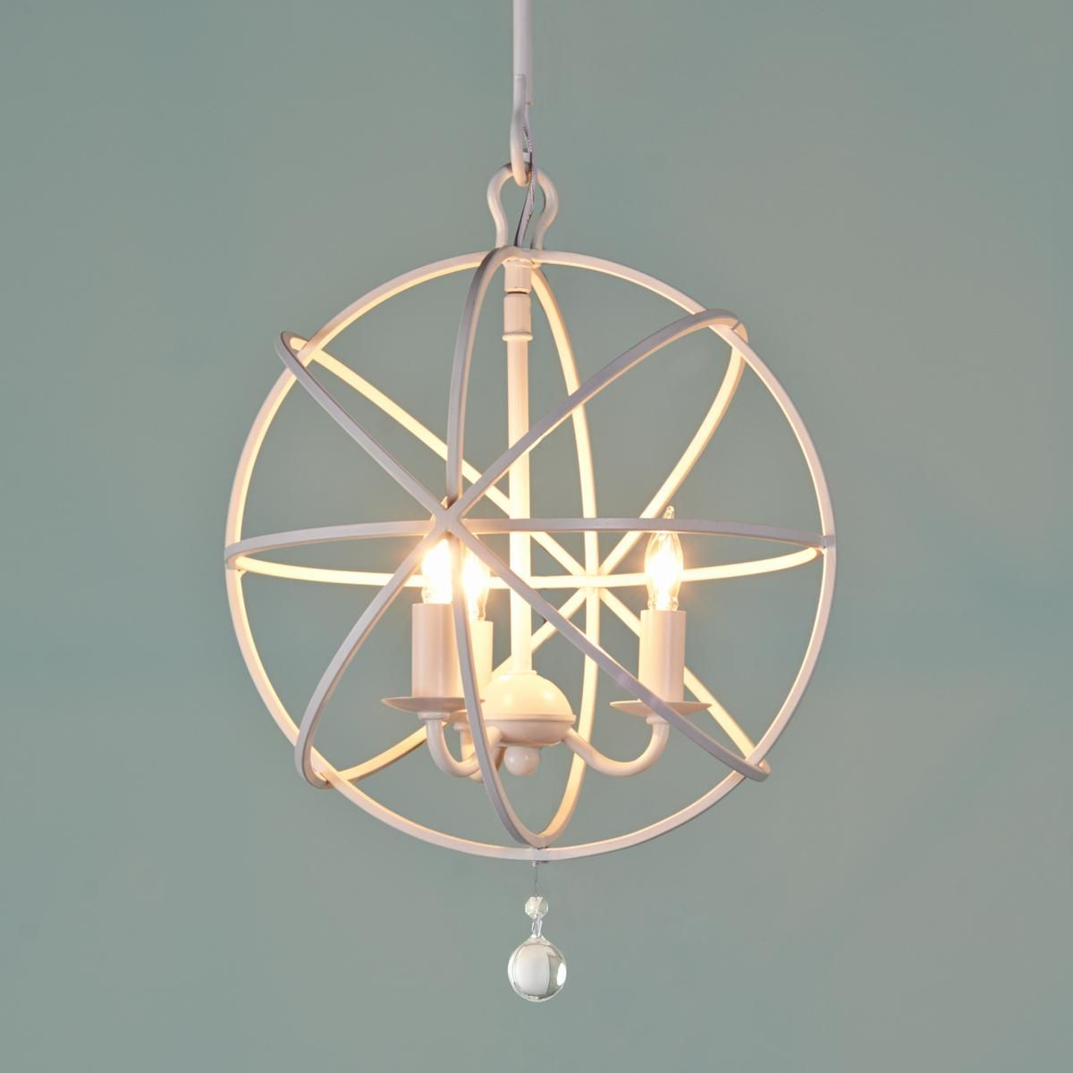 Small Orbit Chandelier Up at the ceiling or hung down as a mini ...