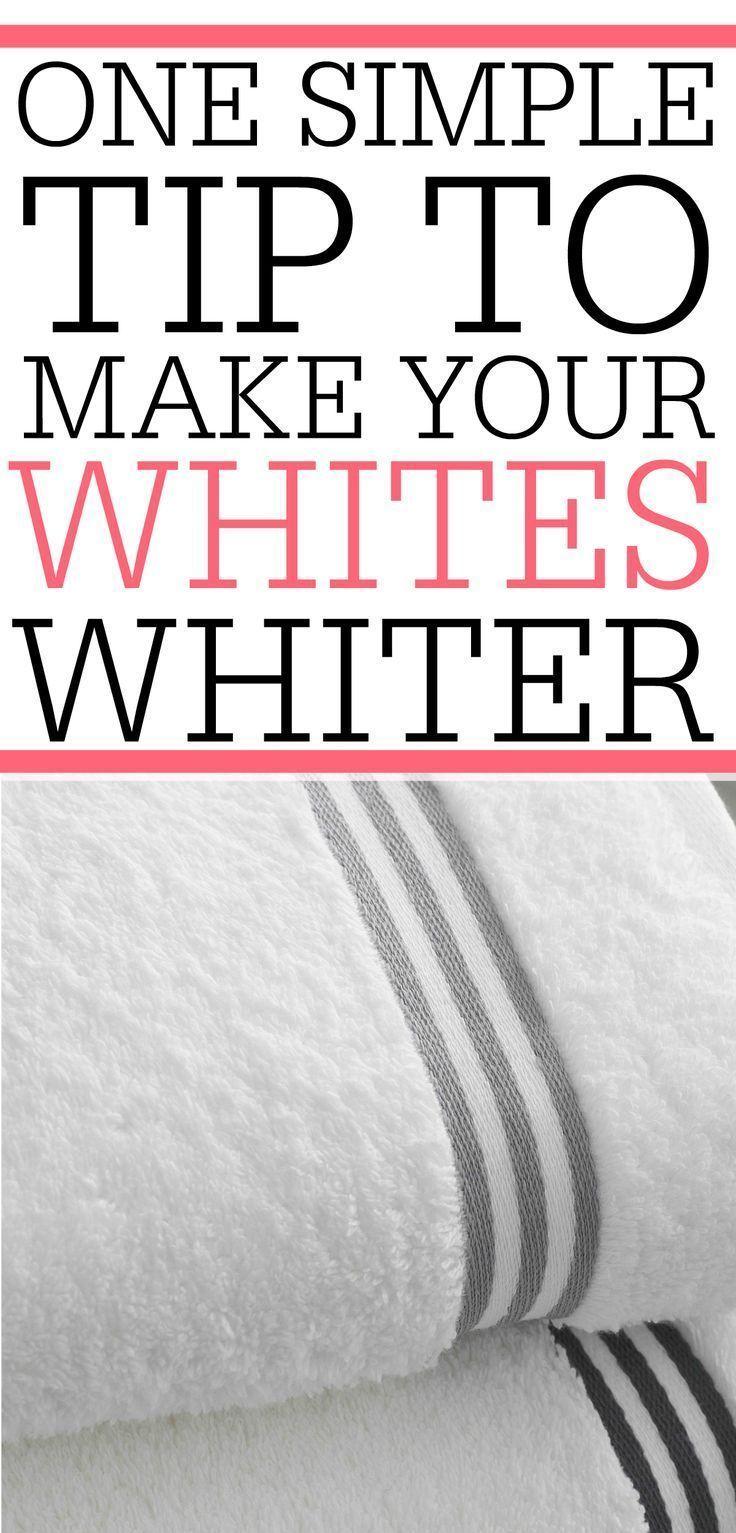 One Simple Trick To Get Whites Whiter Dingy Whites Washing White Clothes How To Whiten Clothes