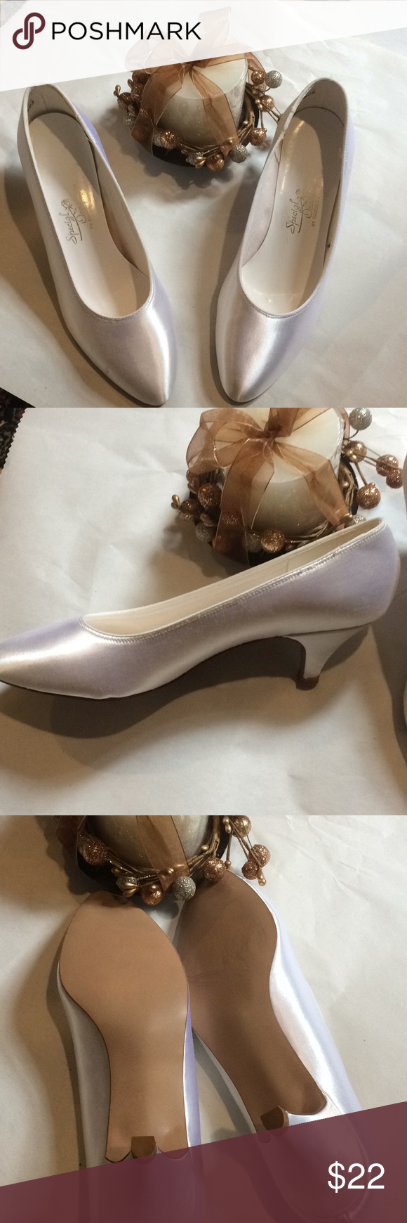 New Size 7 Wedding Shoes With 1 Heel Candle Special Occasions By Saugus Shoe Size 7 Wedding Shoes With Free Wedding Candle Spec Wedding Shoes Heels Shoes