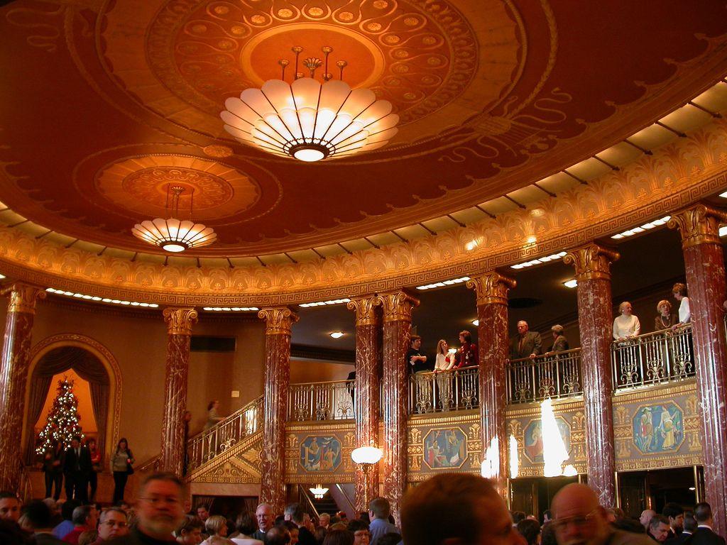 Severance Hall lobby Christmas concert, Hall, Ceiling lights