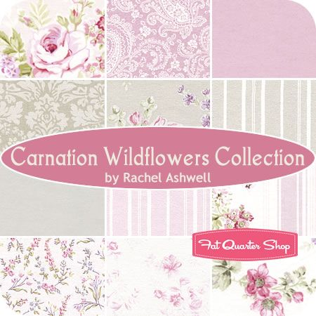 Awesome Carnation Wildflowers Collection Fat Quarter Bundle Rachel Home Interior And Landscaping Synyenasavecom