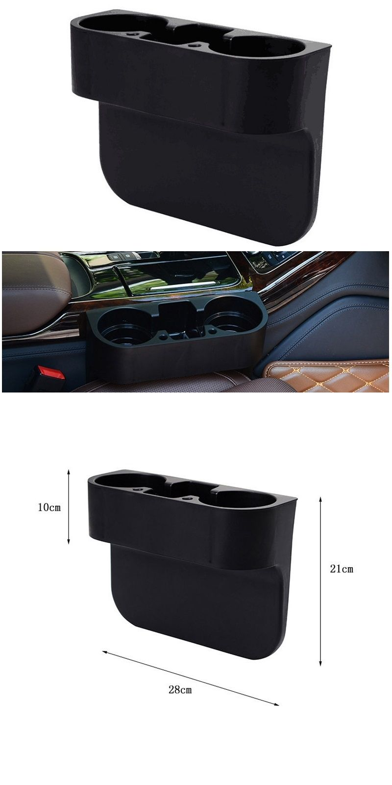 Car Cup Holder Interior Organizer Portable Multifunction Auto Vehicle Seat Cell Phone Drink