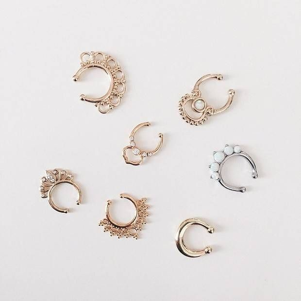 How to make a faux septum ring diy beauty pinterest faux septum ring septum and ring - Decorative septum jewelry ...