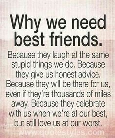 Pin by Jennifer Staten on Friends | Best friend quotes ...