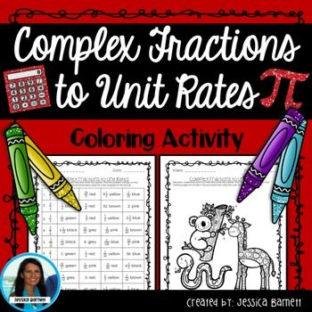 Complex Fractions To Unit Rates Activity Halloween Coloring Page