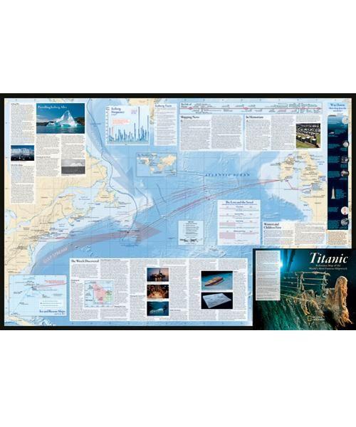 Titanic Map : titanic, Titanic, Poster, Titanic,, Poster,