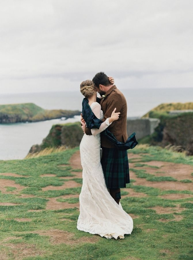 Elegant Cliff Top Ceremony in Scotland | Scotland wedding, Highland  wedding, Scottish wedding
