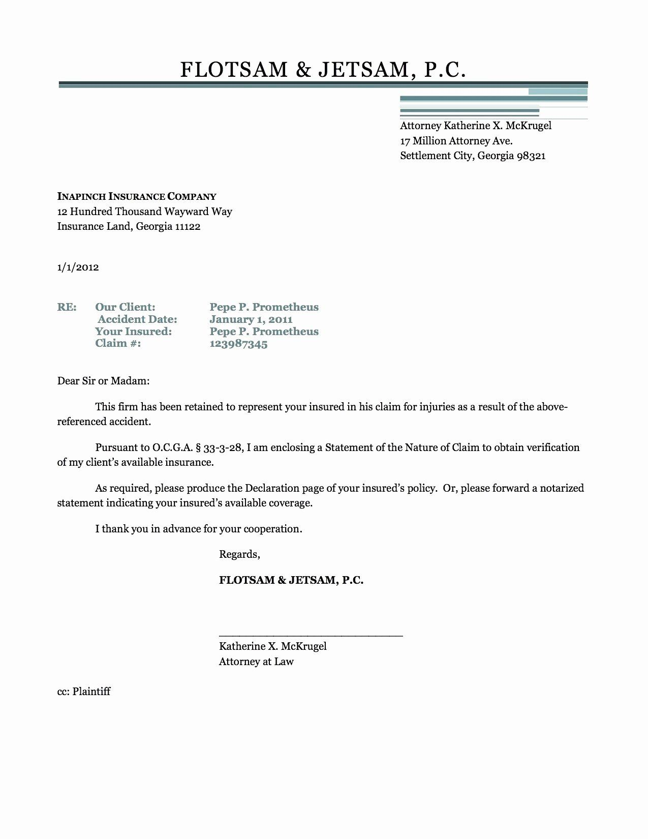 Personal Injury Demand Letter Template In 2020 Letter Templates