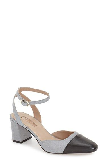 71883199367 Topshop  Jewel  Cap Toe Block Heel Pump (Women)