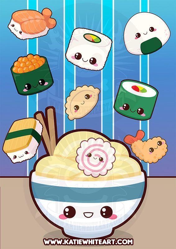 Kawaii Sushi Wallpaper Anime Amino Kawaii Cute Nel 2019