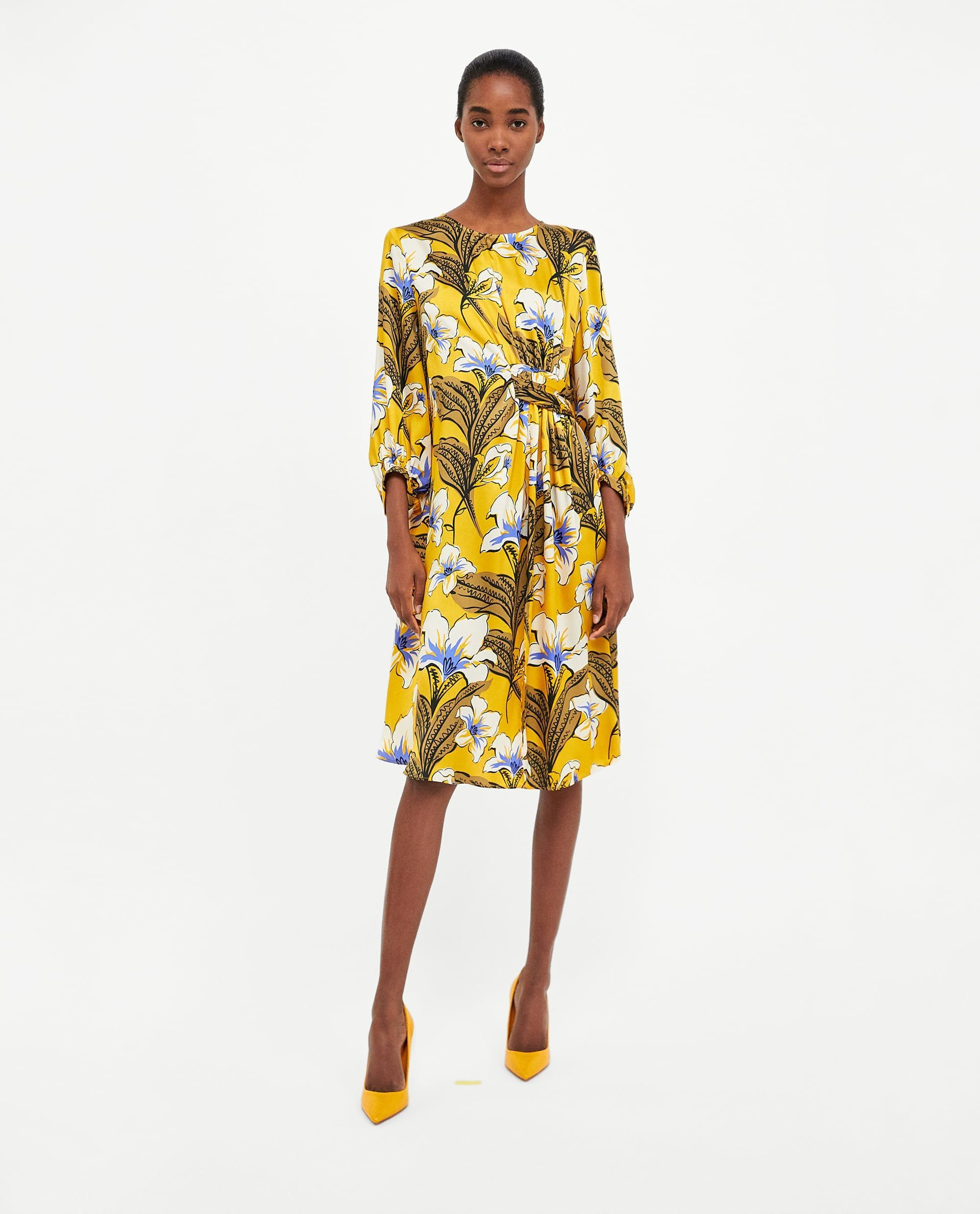 e261315d9 ZARA Floral print dress for spring. Zara Refreshed Its Best Sellers List  With The Top Spring Trends #refinery29