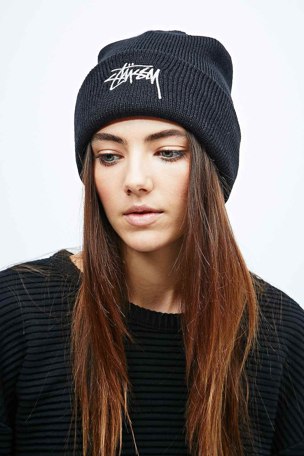 acff0a5bcf4 Stussy Stock Cuff Beanie in Black - Urban Outfitters