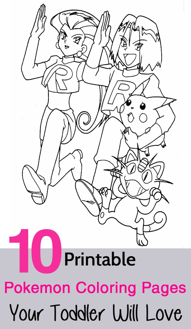 Pokemon kanto coloring pages - 10 Printable Pokemon Coloring Pages Your Toddler Will Love