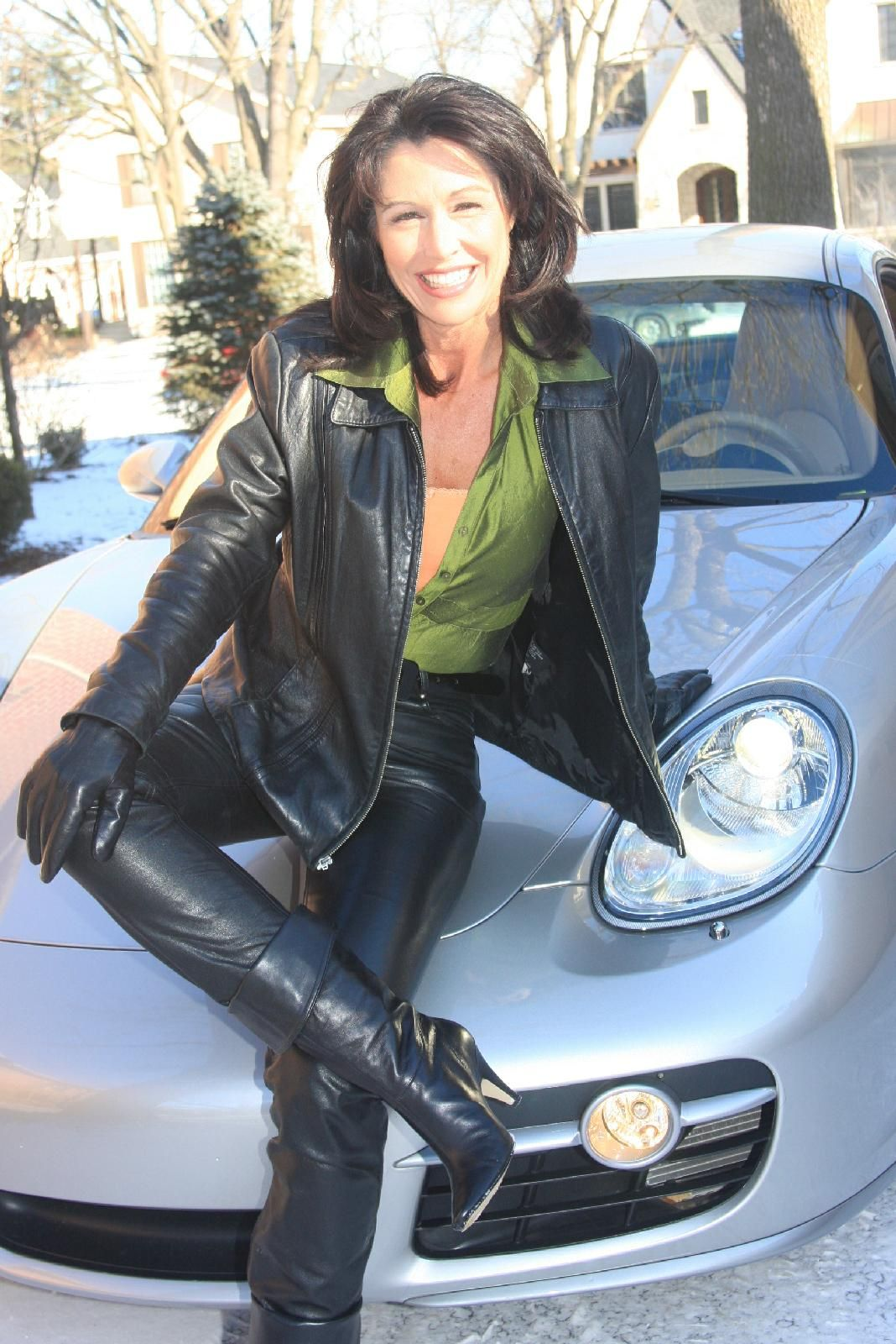 women in leather | Mature in Leather